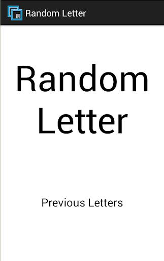 Random Letter