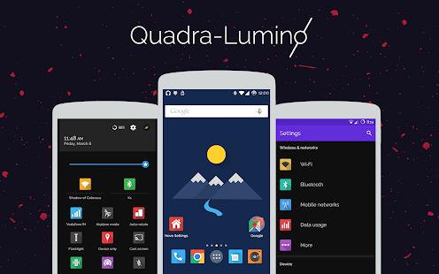 Quadra-Lumino CM12 Theme Screenshot
