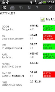 Stocks Watchlist - screenshot thumbnail