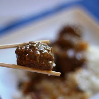 Slow Cooked Sweet and Sour Meatballs.