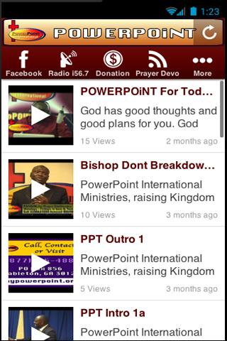 POWERPOiNT International- screenshot