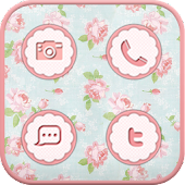 Vintage flower icon Theme