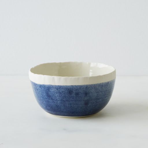 Blue Porcelain Soup Bowl