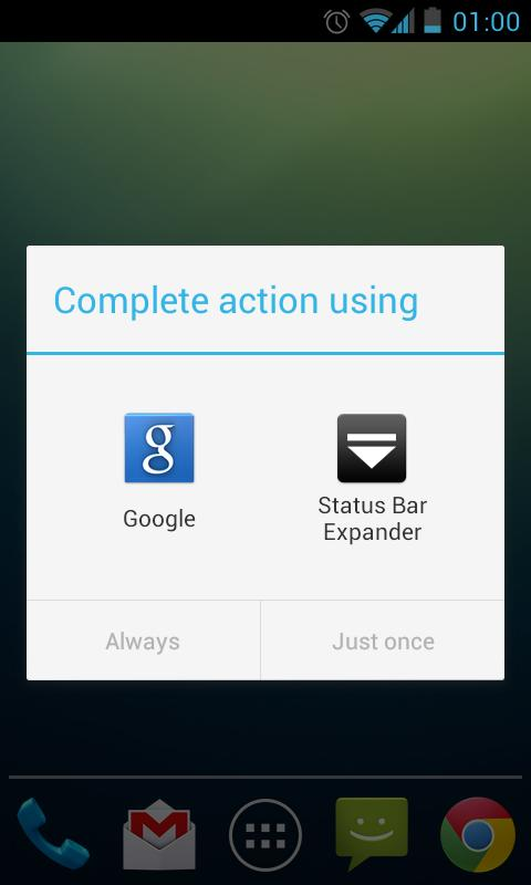 Status Bar Expander - screenshot