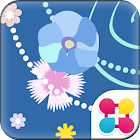 Flower Theme Periwinkle Orchid icon