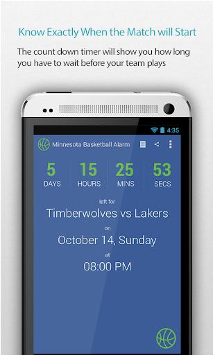 Minnesota Basketball Alarm