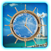 Dubai Hotels Compass Clock LWP