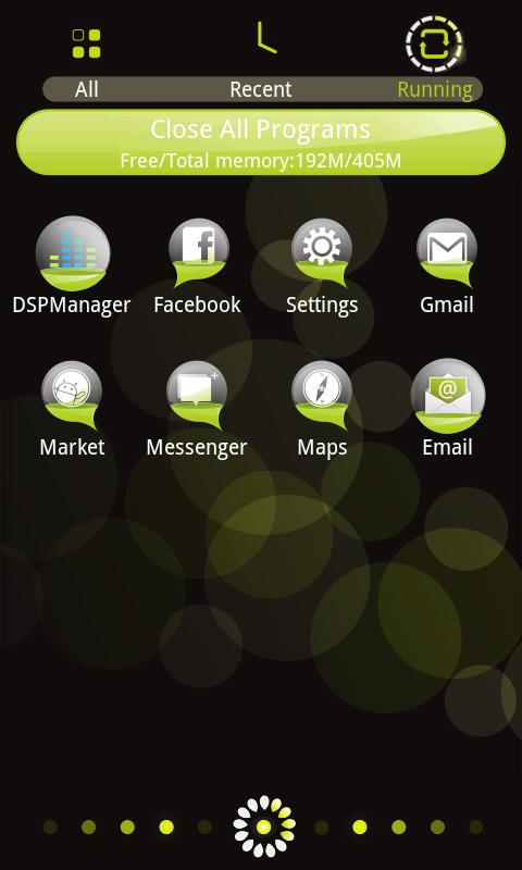 Bubble Theme GO Launcher EX - screenshot