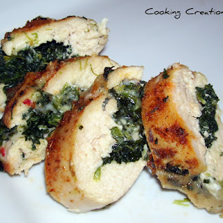 Cajun Chicken Stuffed with Pepper Jack Cheese & Spinach Recipe