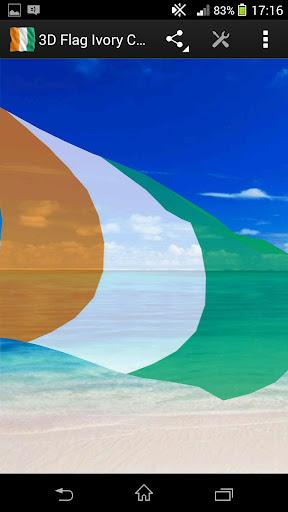 3D Flag Ivory Coast LWP