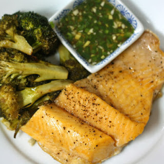 Lake Trout With Nuoc Mam Gung and Broccoli