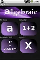 Screenshot of Algebraic