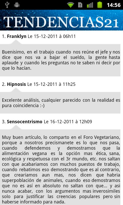 Tendencias21- screenshot