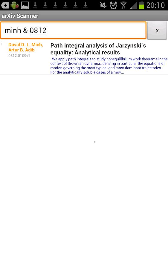 arXiv scanner- screenshot
