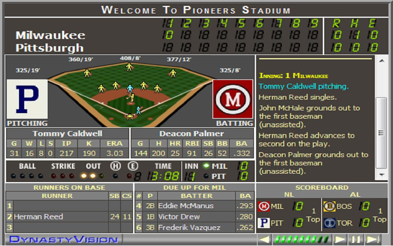 Sim Dynasty Baseball - screenshot