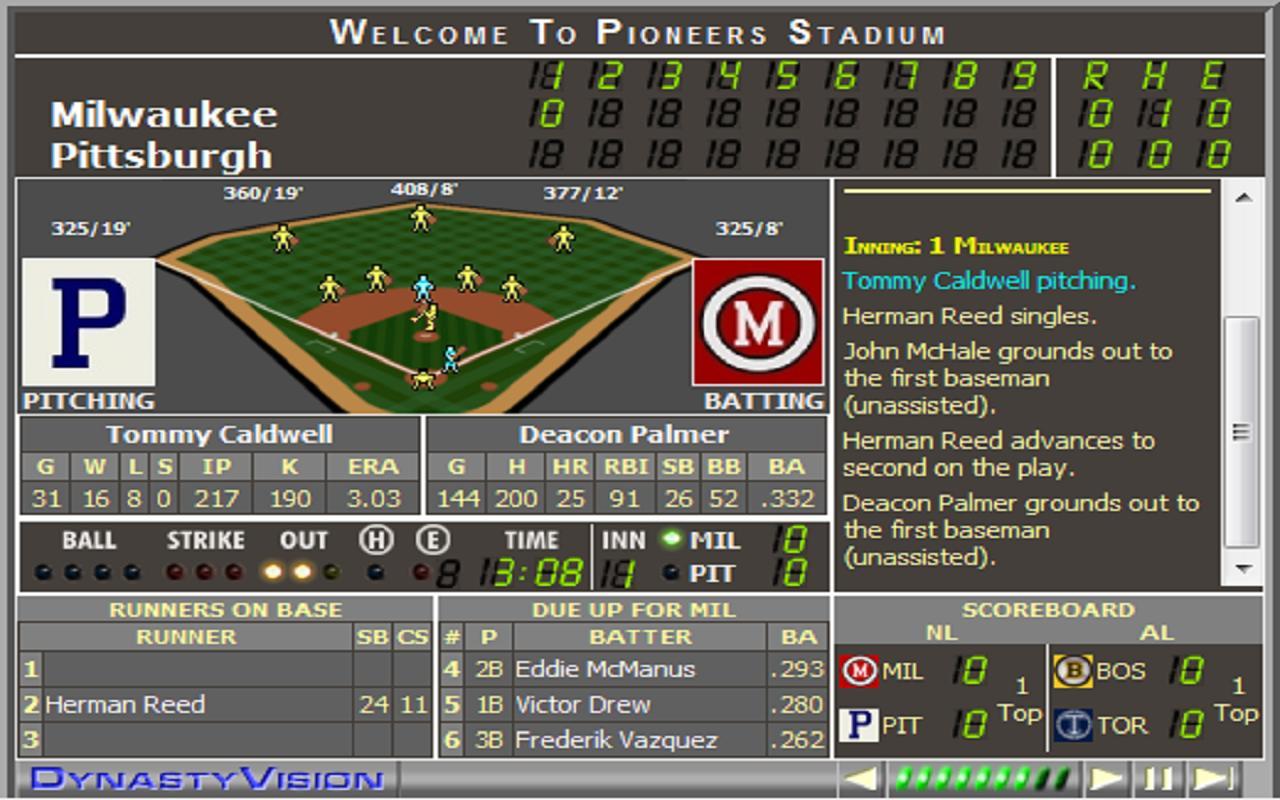 Sim Dynasty Baseball - screenshot