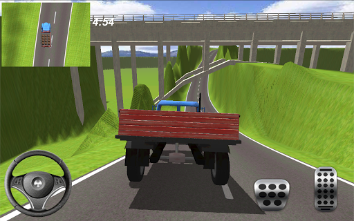 公路貨運卡車在