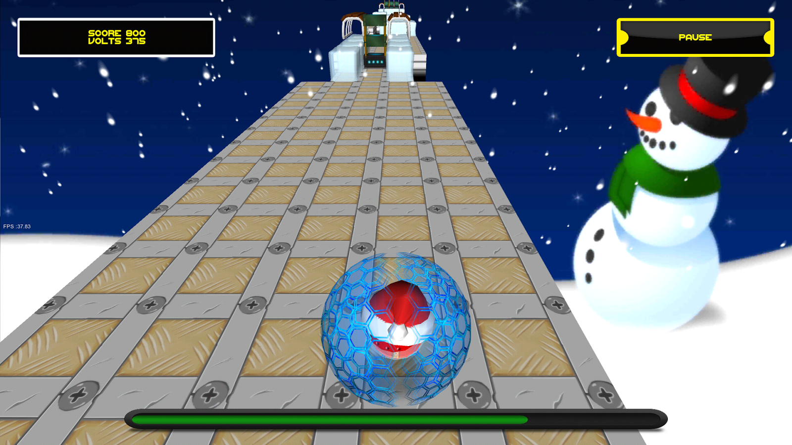 Jumping Electron Christmas - screenshot