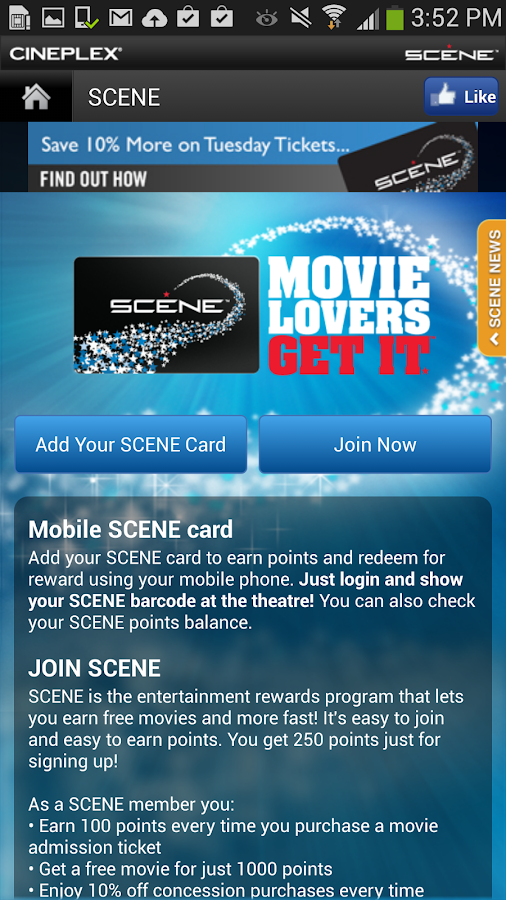 Cineplex Mobile - screenshot