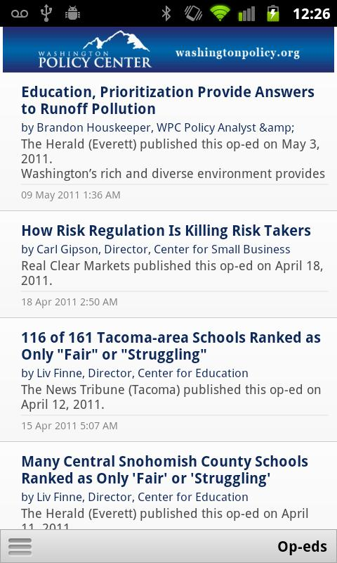 WA Policy Center - screenshot