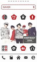 Screenshot of SHINee dodol theme ex-pack