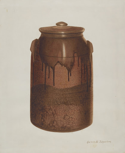 Pottery Jar with Lid
