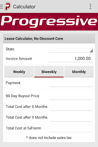 Progressive Leasing RSA App Screenshot