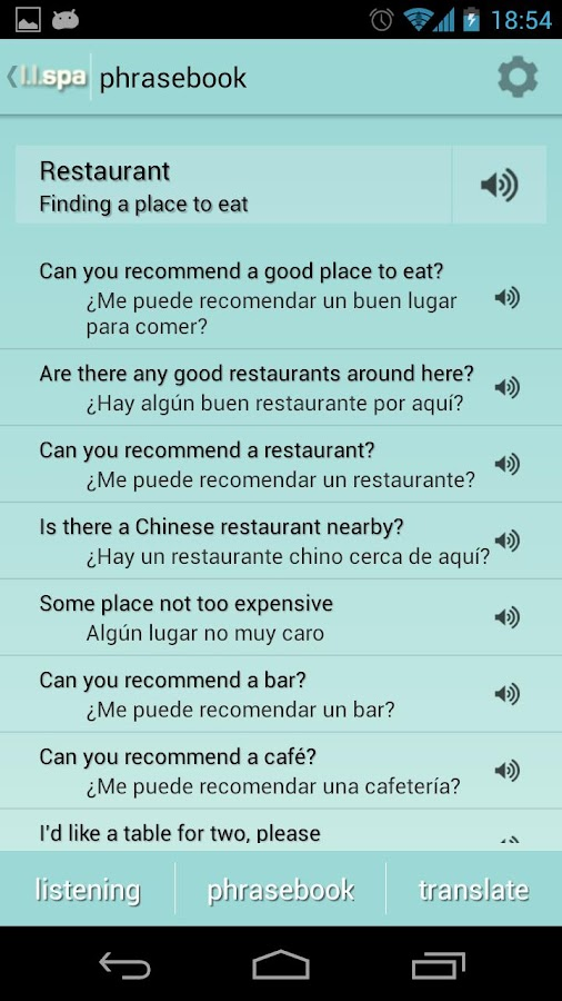 Learn Languages: Spanish - screenshot