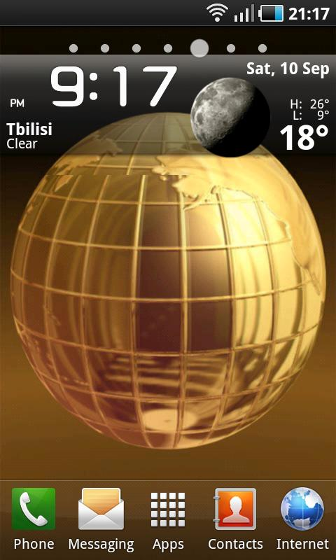 Golden Globe LWP- screenshot