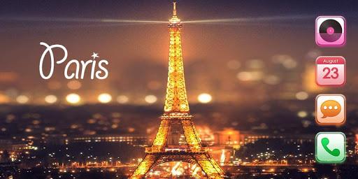 巴黎夜景手機主題——暢遊桌面