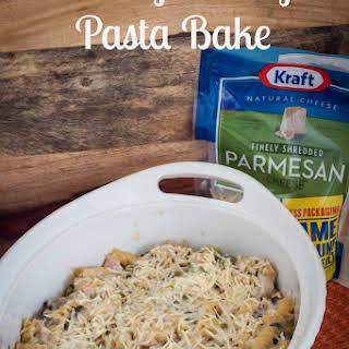Cheesy Turkey Pasta Bake.