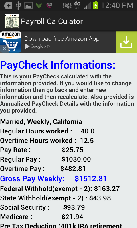 accurate paycheck calculator android apps on google play