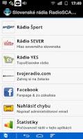 Screenshot of Slovakia radios RadioSCAN free