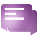 EvolveSMS Material Blur Purple icon