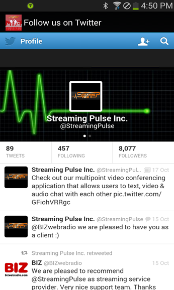 StreamingPulse- screenshot