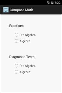 Algebra Compass math