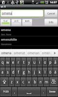 Screenshot of Finnish-Estonian Dictionary