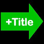 LINEにタイトル付きのURLを送るアプリ