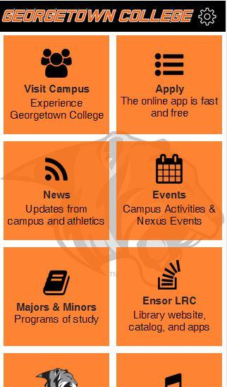 Georgetown College- screenshot