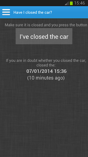 Have I closed the car