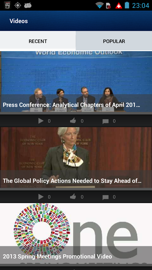 IMF/World Bank Spring Meetings - screenshot