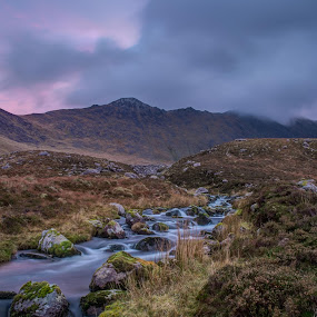 Carrantouhill by F Kelly - Landscapes Mountains & Hills ( stream, mountain, ireland, carrantouhill, ireland's highest mountain, kerry )
