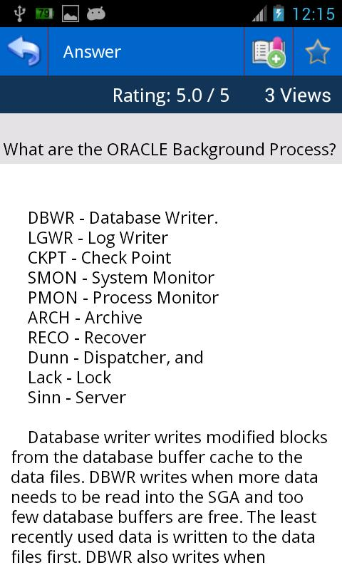 OracleFAQ - screenshot
