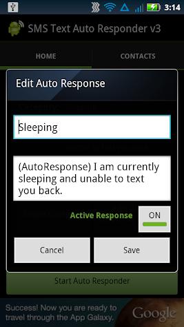 SMS Text Auto Responder PAID Screenshot
