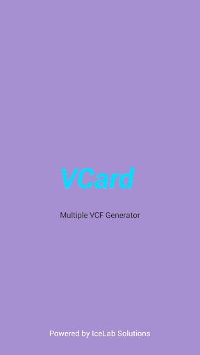 VCard - Multiple Vcf Generator