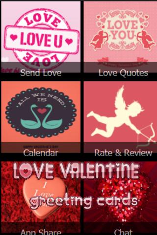 Love Valentine Greeting Cards