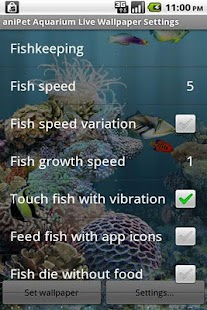 aniPet Aquarium LiveWallpaper- screenshot thumbnail