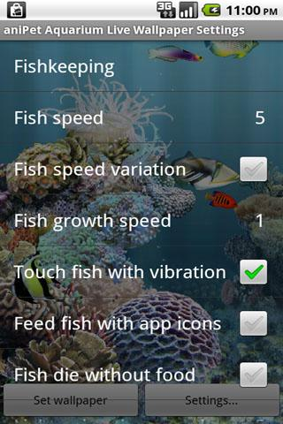 aniPet Aquarium LiveWallpaper - screenshot