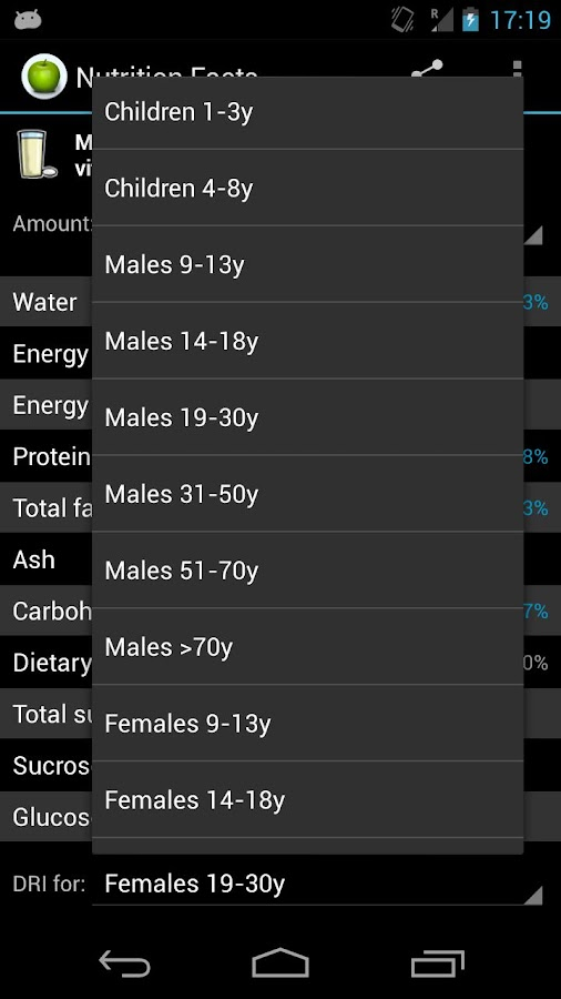 Nutrition Facts PRO Unlocker - screenshot