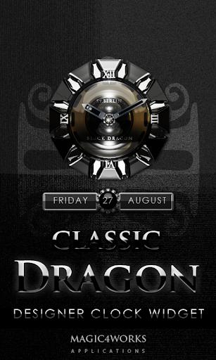 Classic Dragon clock widget